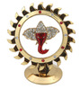 JaipurCrafts Multicolour Brass Studded Ganesha In Chakra