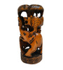 JaipurCrafts Brown Wooden Lion Elephant Shikaar Showpiece