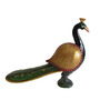 JaipurCrafts Multicolour Wooden Sitting Peacock Showpiece