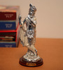 JaipurCrafts Silver Polyresin Premium Collection Lord Krishna Playing Flute Statue