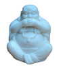 JaipurCrafts White Stoneware Laughing Buddha Showpiece