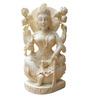 JaipurCrafts White Stoneware Goddess Lakshmi Sitting on Lotus Showpiece