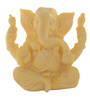 JaipurCrafts White Stoneware Lord Ganesha Statue