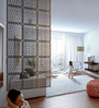 Jamelia Room Divider in Wenge by Bohemiana
