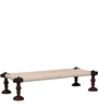 Tasarika Chaarpai Bench in Passion Mahogany Finish by Mudramark