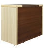 Jardin Credenza Table with Two Drawers & Two Shutters in Slate Oak & Dark Brown Colour by Crystal Furnitech