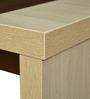 Jardin Coffee Table in Slate Oak & Dark Brown Colour by Crystal Furnitech