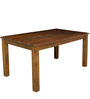 Java New Solidwood Six Seater Dining Set in Light Brown Colour by HomeTown