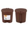Jaypee Plus Brown 25.9 L Large Pedal Waste Bin - Set of 2