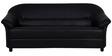 Jennifer Three Seater Sofa in Black PVC by Urban Living