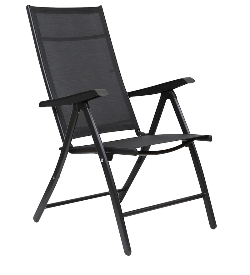 Buy Jet Folding Chair in Black Colour by HomeTown line
