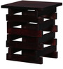 Duvall Solid Wood End Table in Passion Mahogany Finish by Woodsworth