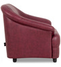 Jennifer One Seater Sofa in Maroon Colour by Urban Living