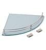 Macaria Bathroom Shelf in Transparent by CasaCraft
