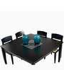 Jewel Eight Seater Dining Table in Indian Mahogany Finish by Godrej Interio