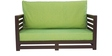 Jinjer Contemporary Two Seater Sofa in Fluorscent Green Colour by ARRA