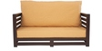Jinjer Contemporary Two Seater Sofa in Light Brown Colour by ARRA