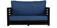 Jinjer Slatted Two Seater Sofa in Blue Colour by ARRA