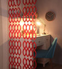 Arika Set Of 10 Screen Divider in Red by Bohemiana