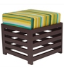 Jinjer Contemporary High Rise Stool in Green Lines Colour by ARRA