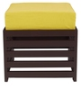 Jinjer Contemporary High Rise Stool in Lemon Yellow Colour by ARRA