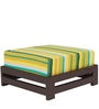 Jinjer Contemporary Low Stool in Green Lines Colour by ARRA
