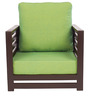Jinjer Contemporary One Seater Sofa in Fluorscent Green Colour by ARRA