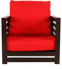 Jinjer Contemporary One Seater Sofa in Red Colour by ARRA