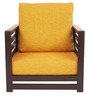 Jinjer Contemporary One Seater Sofa in Yellow Colour by ARRA