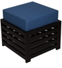 Jinjer High Rise Slatted Blue Stool by ARRA