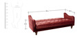 Jodhpuri Sofa Bed in Maroon Colour by Furny