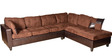 Jordan Fabric & Leatherette Sectional Sofa with Lounger by HomeTown
