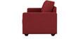 Jordana Three Seater Sofa in Cherry Colour by CasaCraft