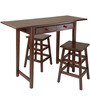 Johnson Two Seater Dining Set With Drawers in Coffee Brown Colour by Asian Arts