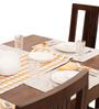 Jordan-Capra Six Seater Dining Set in Provincial Teak Finish by The ArmChair
