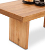 Jordan Six Dining Table in Natural Finish by The ArmChair