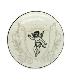JP Hardware White Ceramic 1.49 Inch Door Knob - Set Of 4