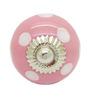 JP Hardware Pink Ceramic 1.57 Inch Door Knob - Set of 4
