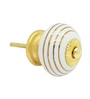 JP Hardware Round Gold Ceramic 1.6 Inch Door Knob - Set of 4