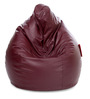 Jumbo SAC Bean Bag (Cover Only) Maroon Color Colour  by Style Homez