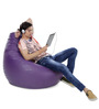Jumbo SAC Bean Bag (Cover Only) Purple Color Colour  by Style Homez