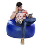 Jumbo SAC Bean Bag (Cover Only) Royal Blue Color Colour  by Style Homez
