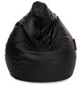 Jumbo SAC Bean Bag Black Color Colour with Beans by Style Homez