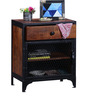 Jundee Bedside Table in Dual Tone Finish by Bohemiana
