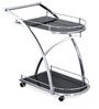 Juniper Serving Cart with Wheels in Black Colour by @ Home