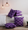 Just Essentials Violet 100% Cotton 16 x 16 Inch Cushion Covers - Set of 5