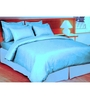 Just Linen Aqua Cotton King Size Flat Bedsheet - Set of 3