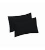 Just Linen Black Cotton 18 x 27 Pillow Cover - Set of 2