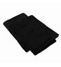 Just Linen Black Cotton 24 x 48 Bath Towel - Set of 2