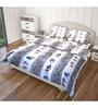 Just Linen Blue and Brown Fabric Single Size Comforter